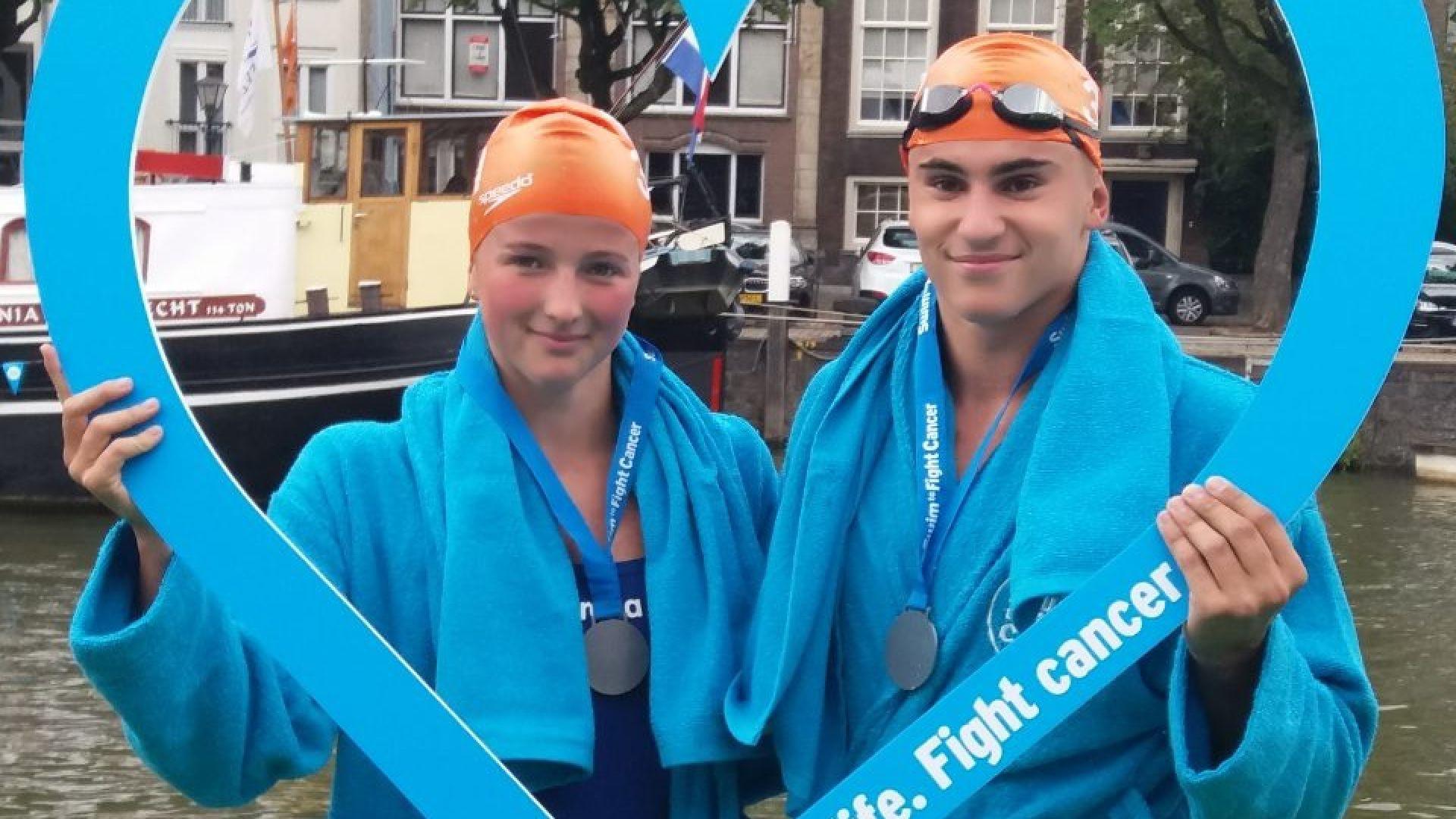 """Талантите на """"Еврофутбол"""" триумфираха на плувния маратон в Холандия"""