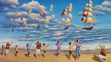 """Магическият реализъм на канадски художник """"омагьосал"""" много световни политици"""