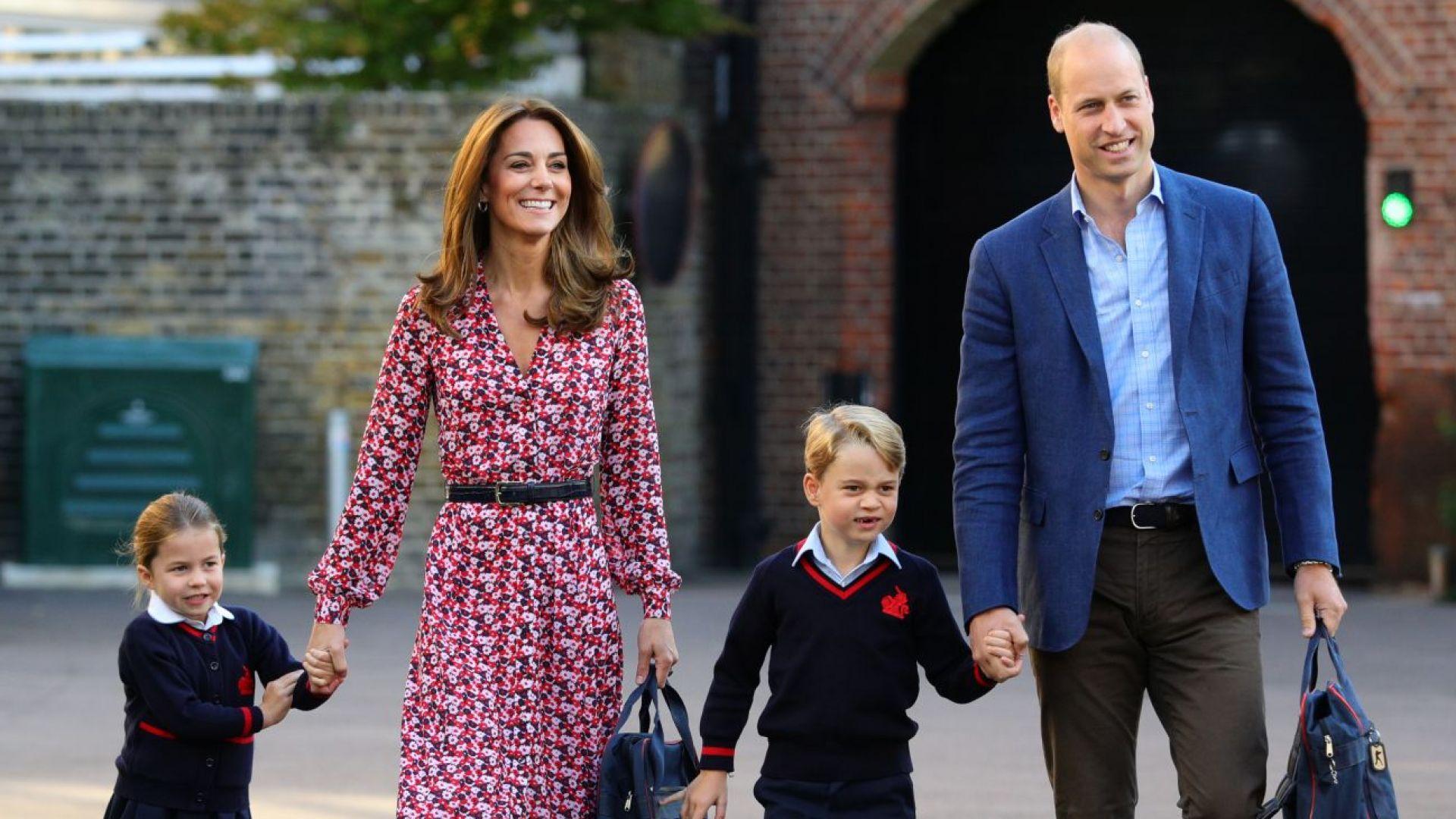 Кейт и Уилям изпратиха принцеса Шарлот и принц Джордж на училище (снимки)