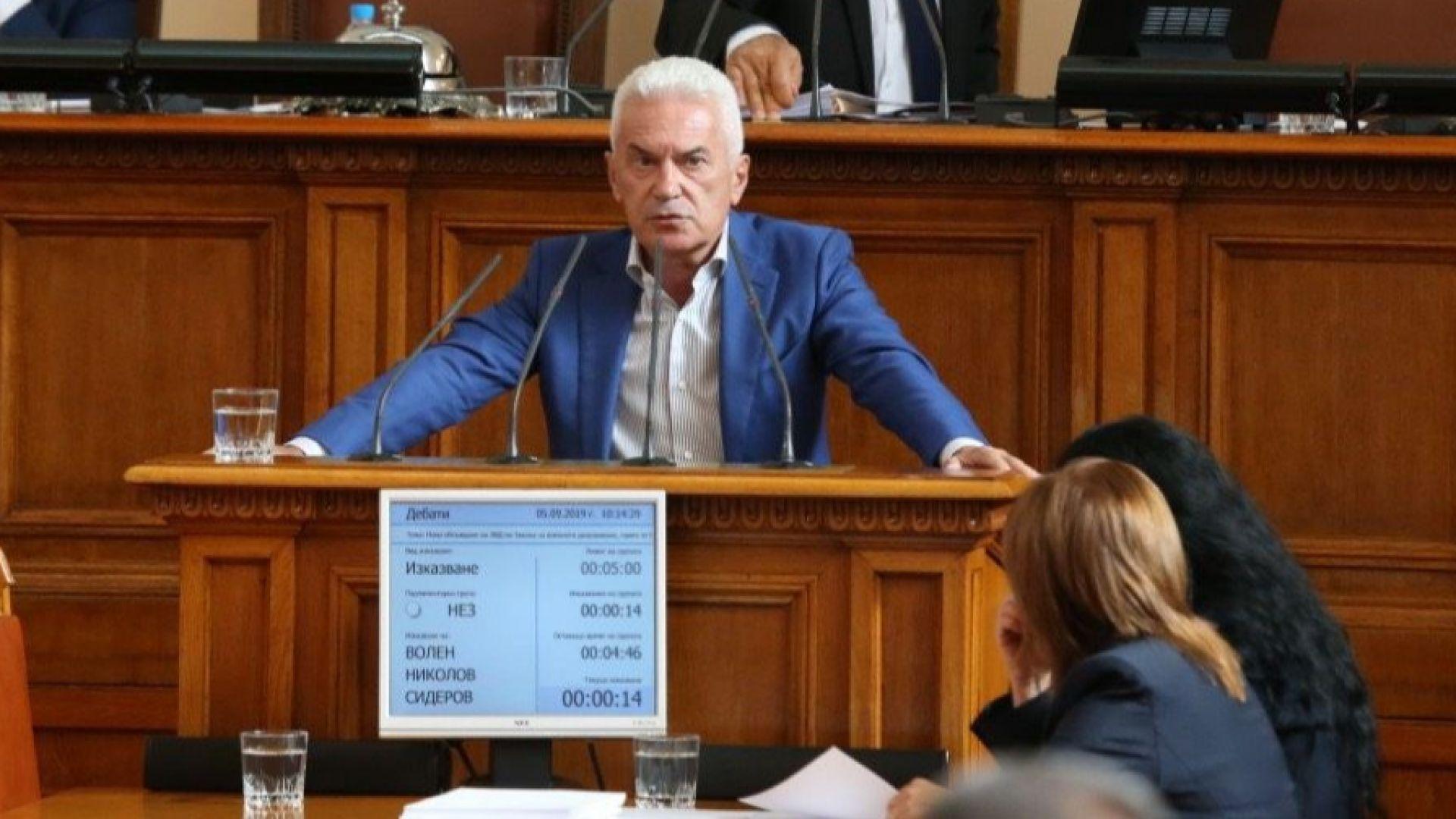 Сидеров: Каракачанов да подаде оставка, ако правителството иска да оцелее