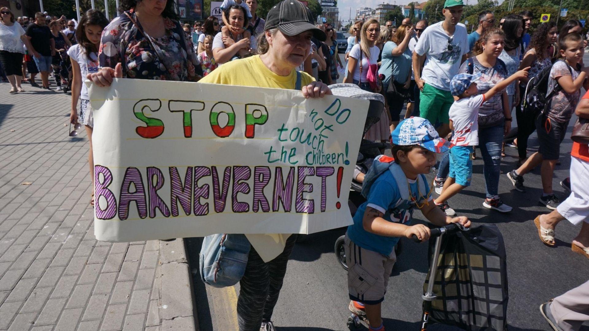 Протести против стратегията за закрила на детето в няколко градове