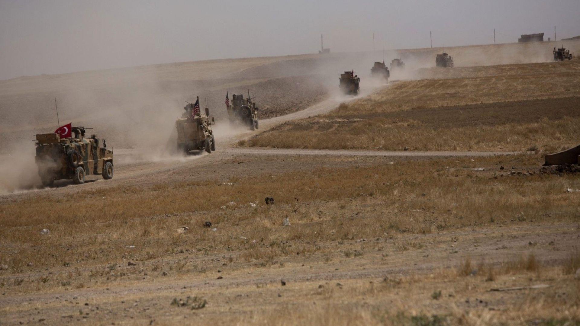 Първото съвместно турско-американско сухопътно патрулиране в планираната зона за сигурност