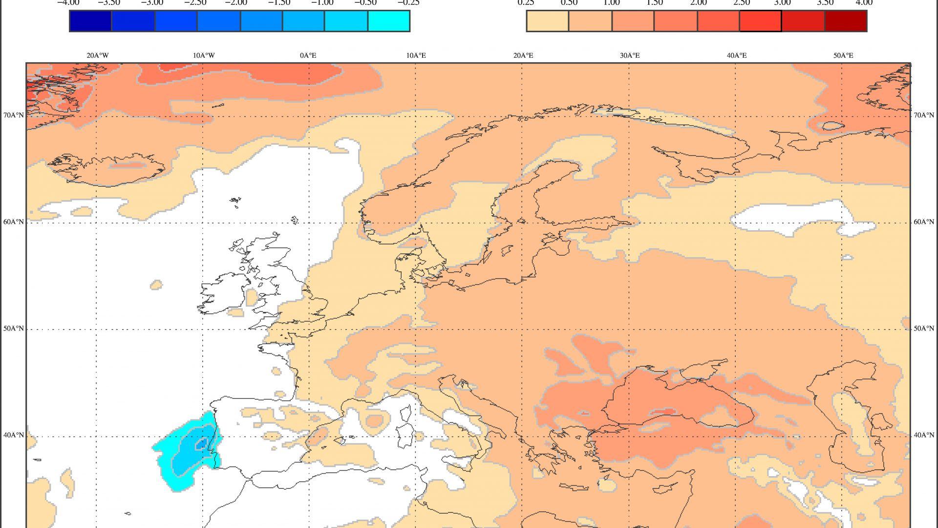 Очаквани отклонения от температурните норми за октомври