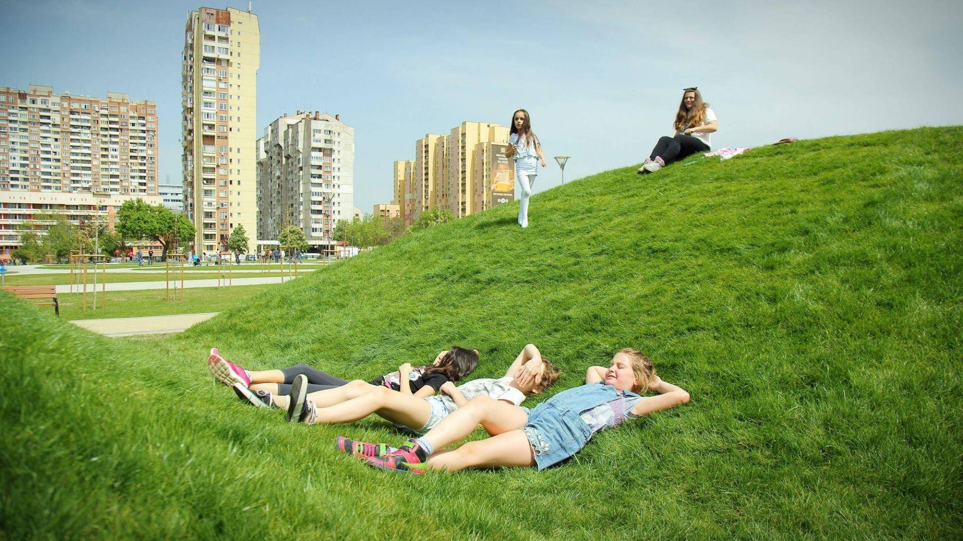 За първи път от десетилетия София има и напълно нов парк - парк Възраждане в Зона Б5