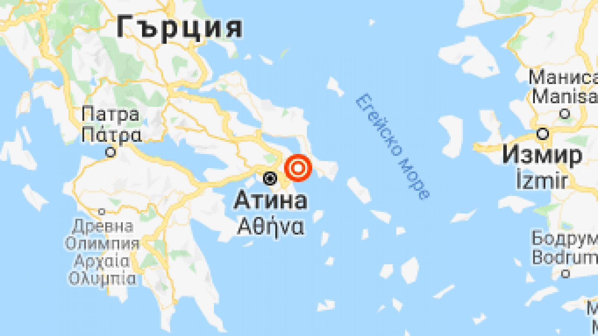 Земетресение от 3,8 по Рихтер в района на Атина