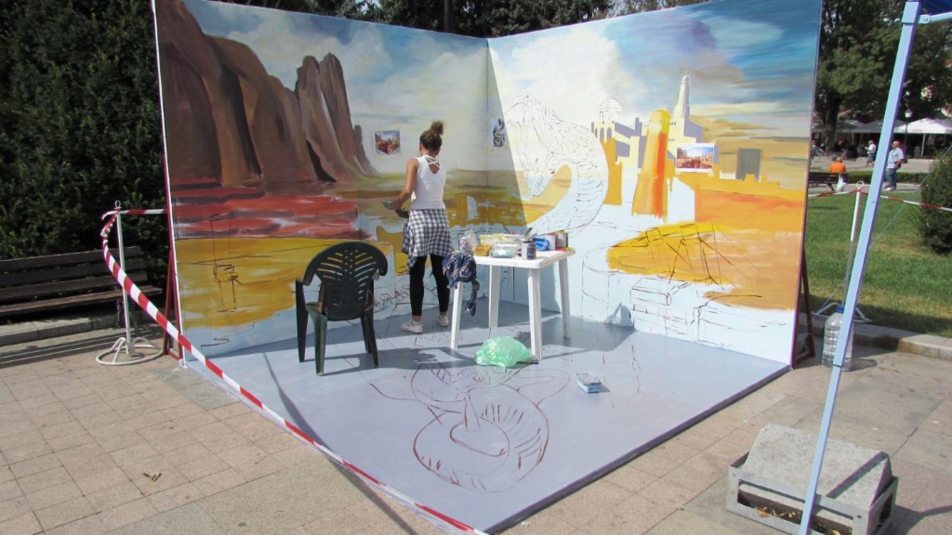 Фестивал на триизмерното улично изкуство превзема центъра на Русе. Артисти