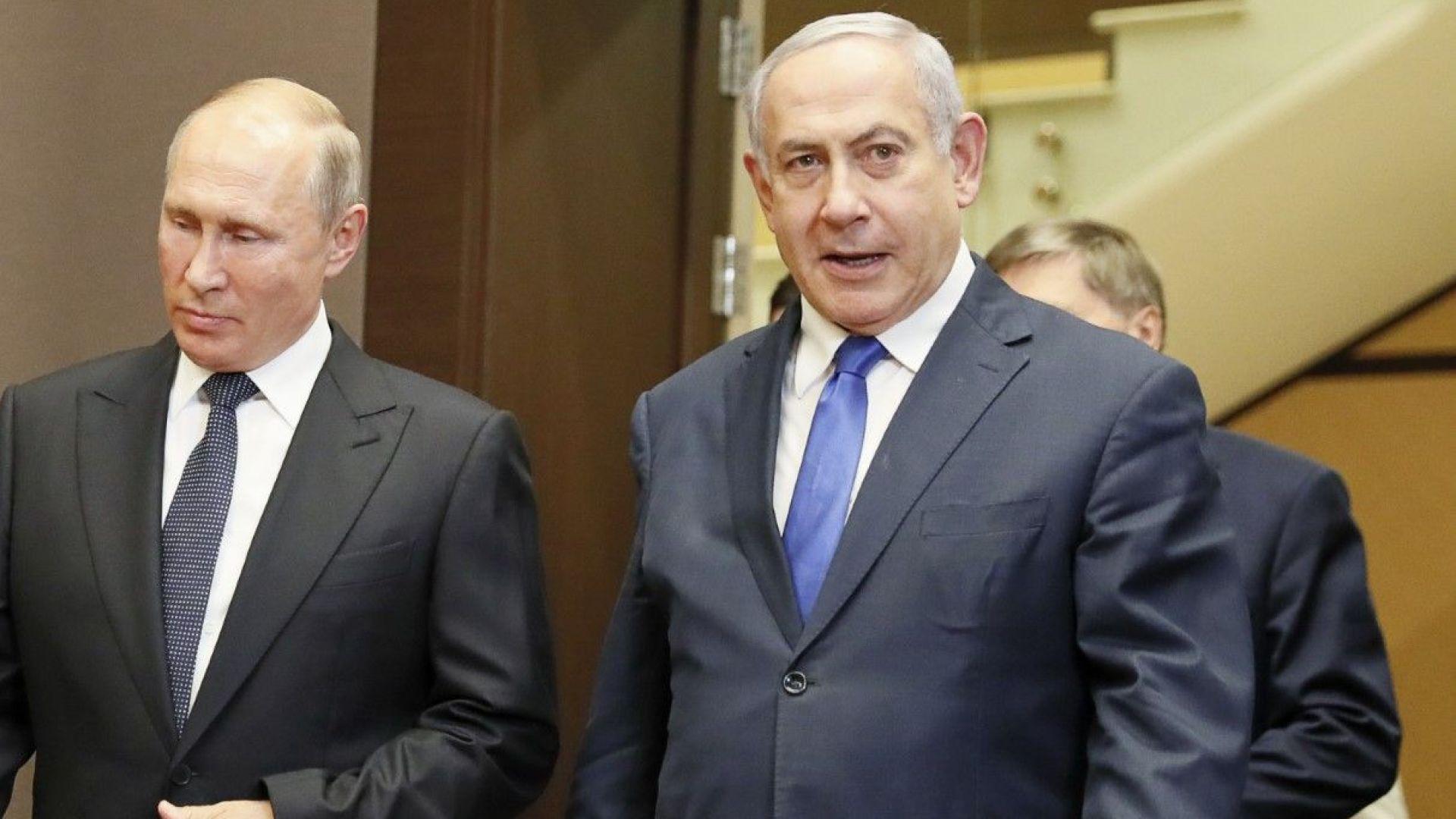 Руският президент Владимир Путин и израелският премиер Бенямин Нетаняху се