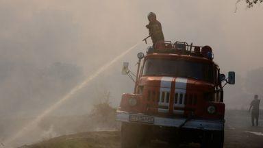 Пожарът в Казанлъшко обхвана 500 дка