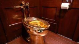 Откраднаха златна тоалетна за 1 млн. долара от британски замък (видео)