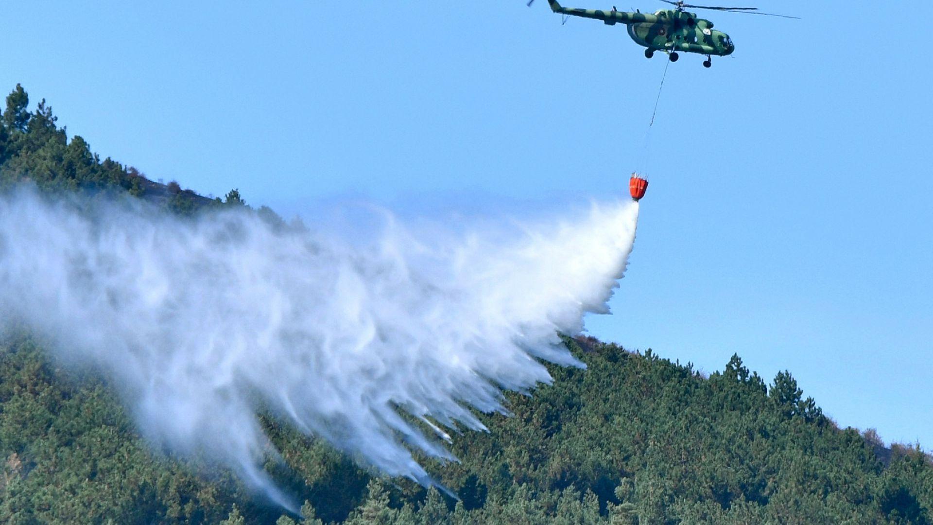 Пожарът в Рила се разраства и вече обхваща 500 декара