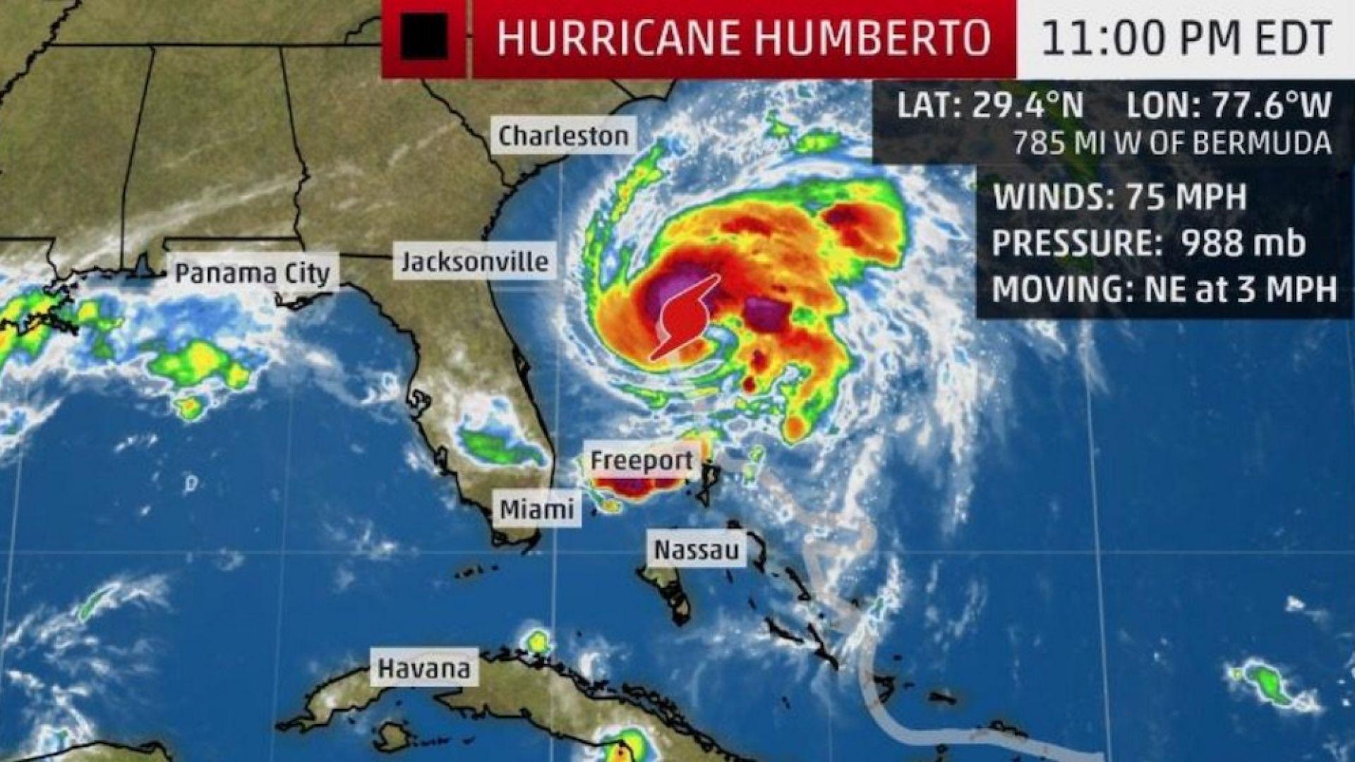 Умберто се превърна в поредния aтлантически ураган