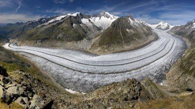 Затоплянето заплашва най-големия ледник в Алпите