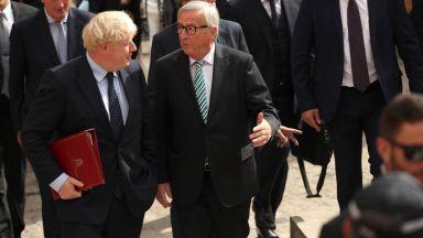 Срещата Юнкер - Борис Джонсън завърши без резултат и затвърди хаоса около Брекзит
