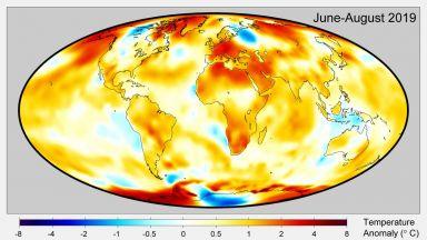 Месец август - втори най-горещ в историята на наблюденията