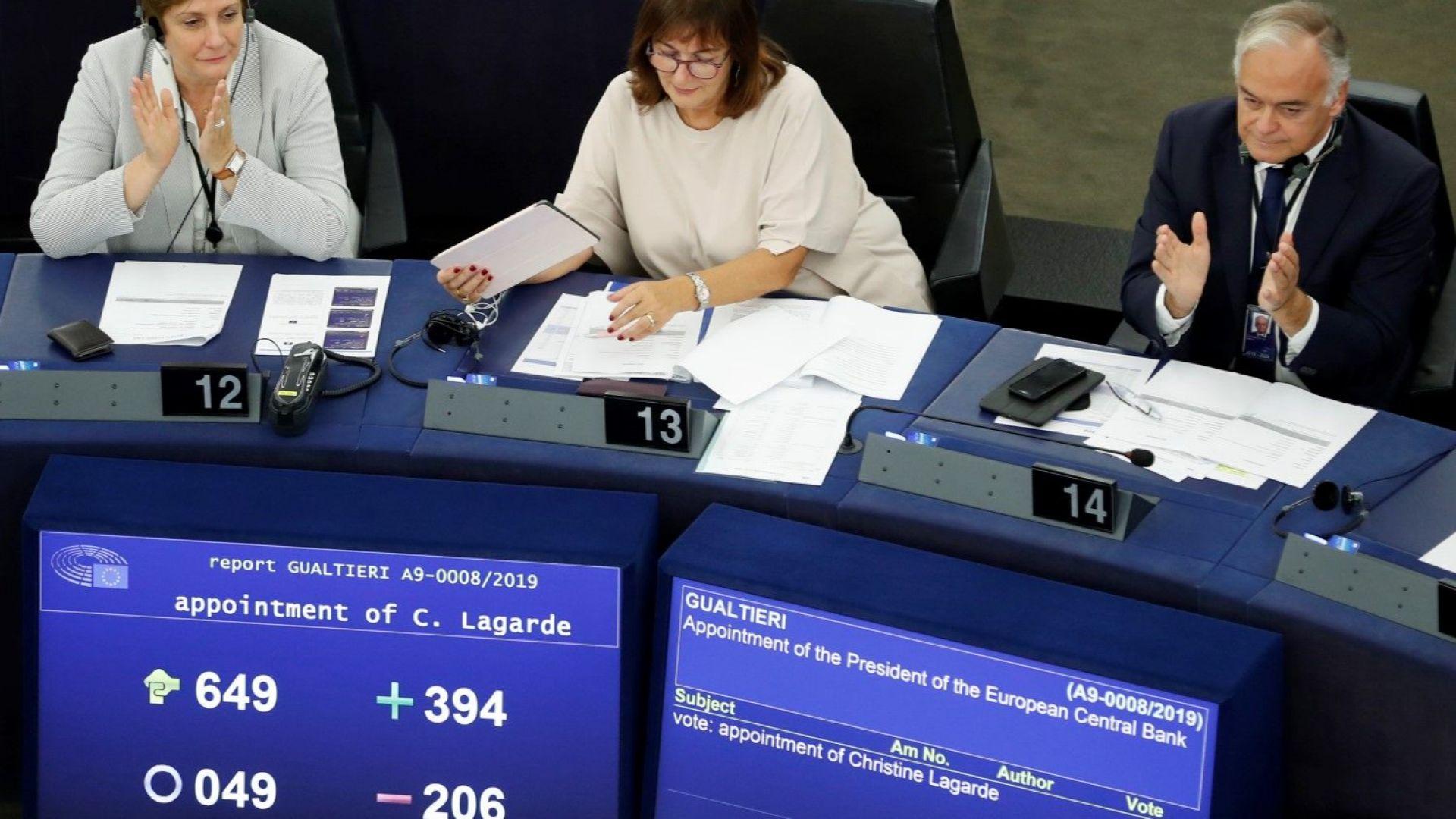 Европарламентът подкрепи Кристин Лагард за президент на ЕЦБ