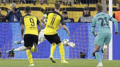 Барса се измъкна като по чудо от Дортмунд (резултати)