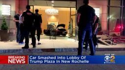 Черен мерцедес се заби в небостъргач на Доналд Тръмп