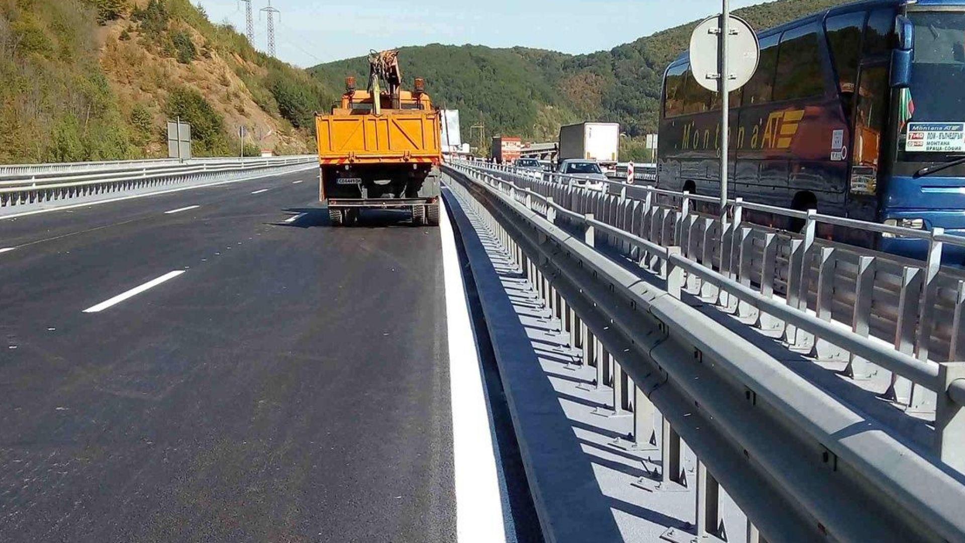 """Ремонт ограничава движението на 7-и км на АМ """"Тракия"""" в посока Бургас"""
