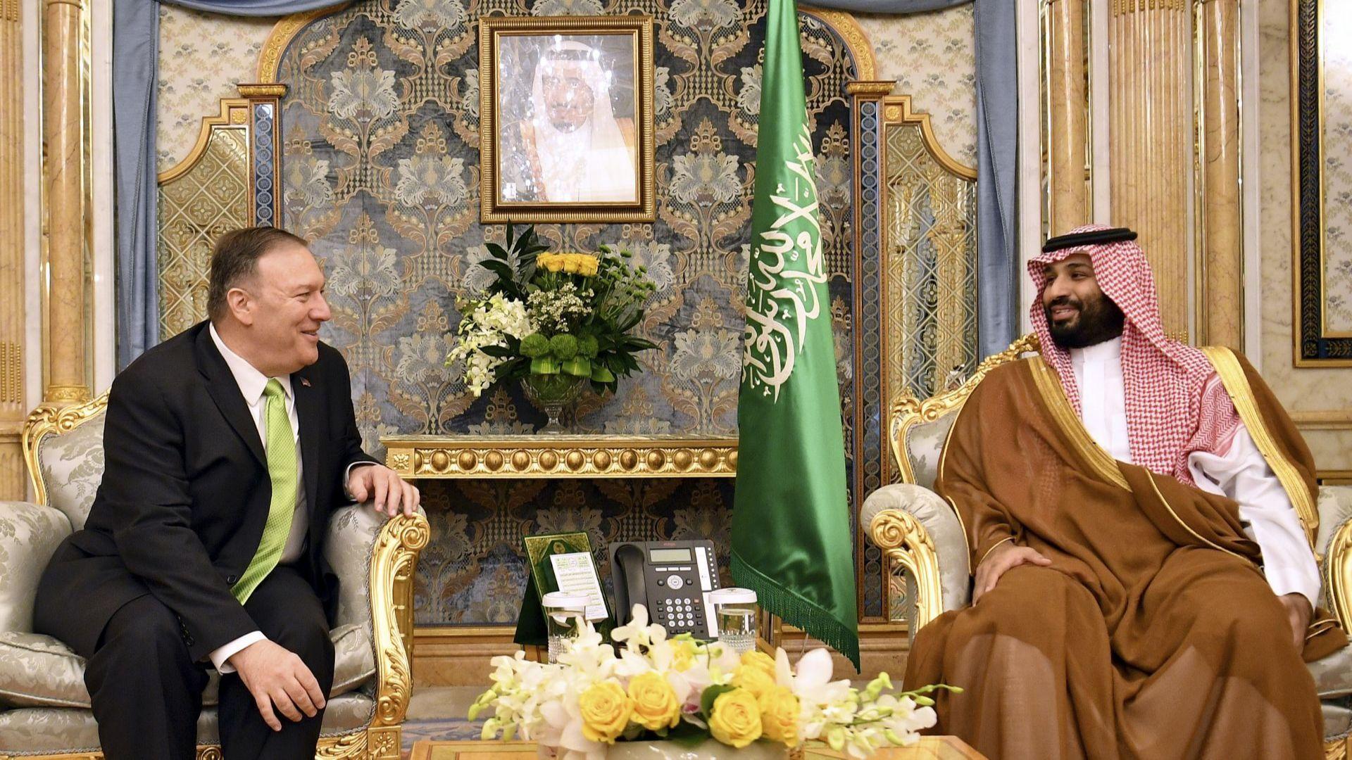 Помпейо пред принц Салман: САЩ подкрепят Саудитска Арабия да се защитава