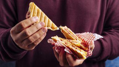 Тост сандвич със заралийски салам и чедър