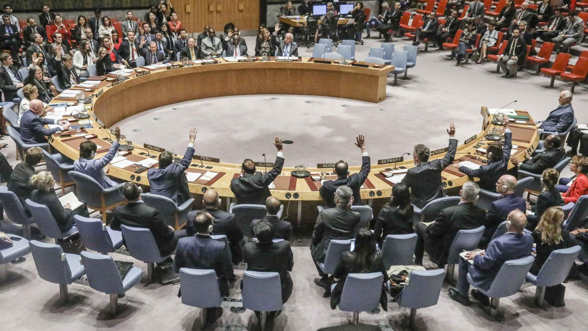 """""""Големите"""" в ООН са твърдо """"за"""" две държави в израелско-палестинския конфликт"""