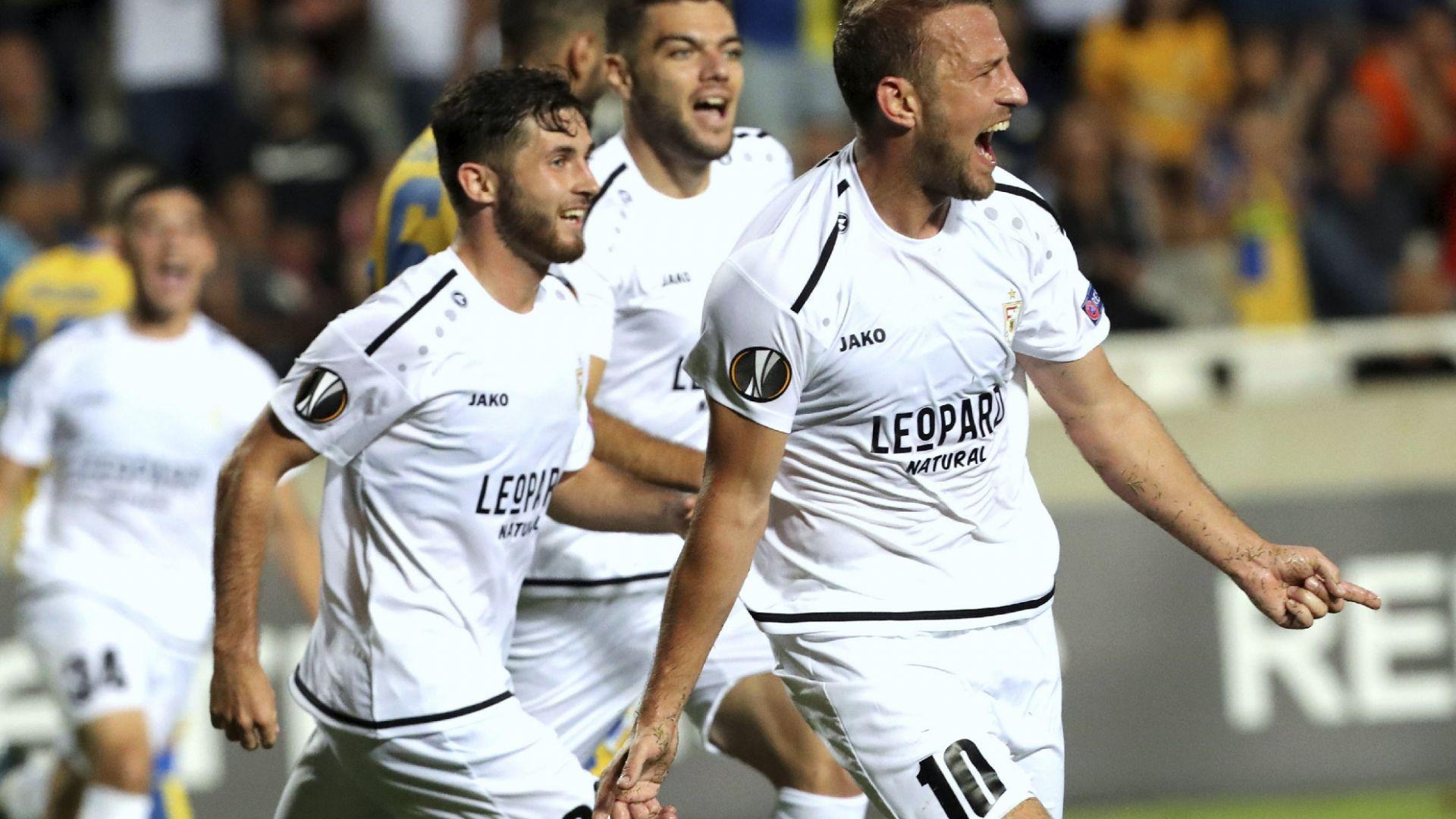 И това доживяхме - тим от Люксембург празнува успех в групите на Лига Европа