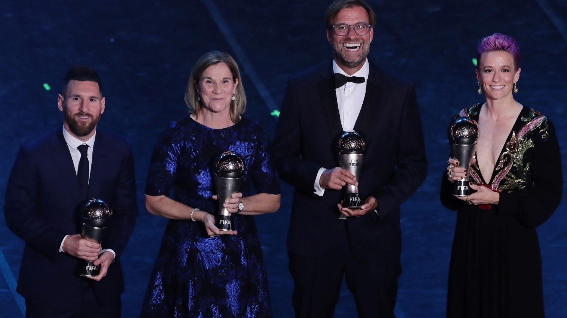 Кой за кого гласува: Меси включи Роналдо, но португалецът не върна жеста