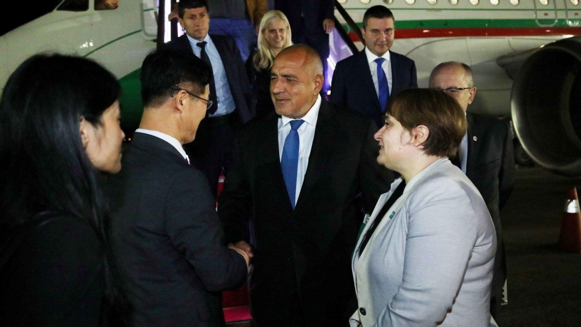 Бойко Борисов пристигна в Сеул, ще преговаря за заводи за електромобили