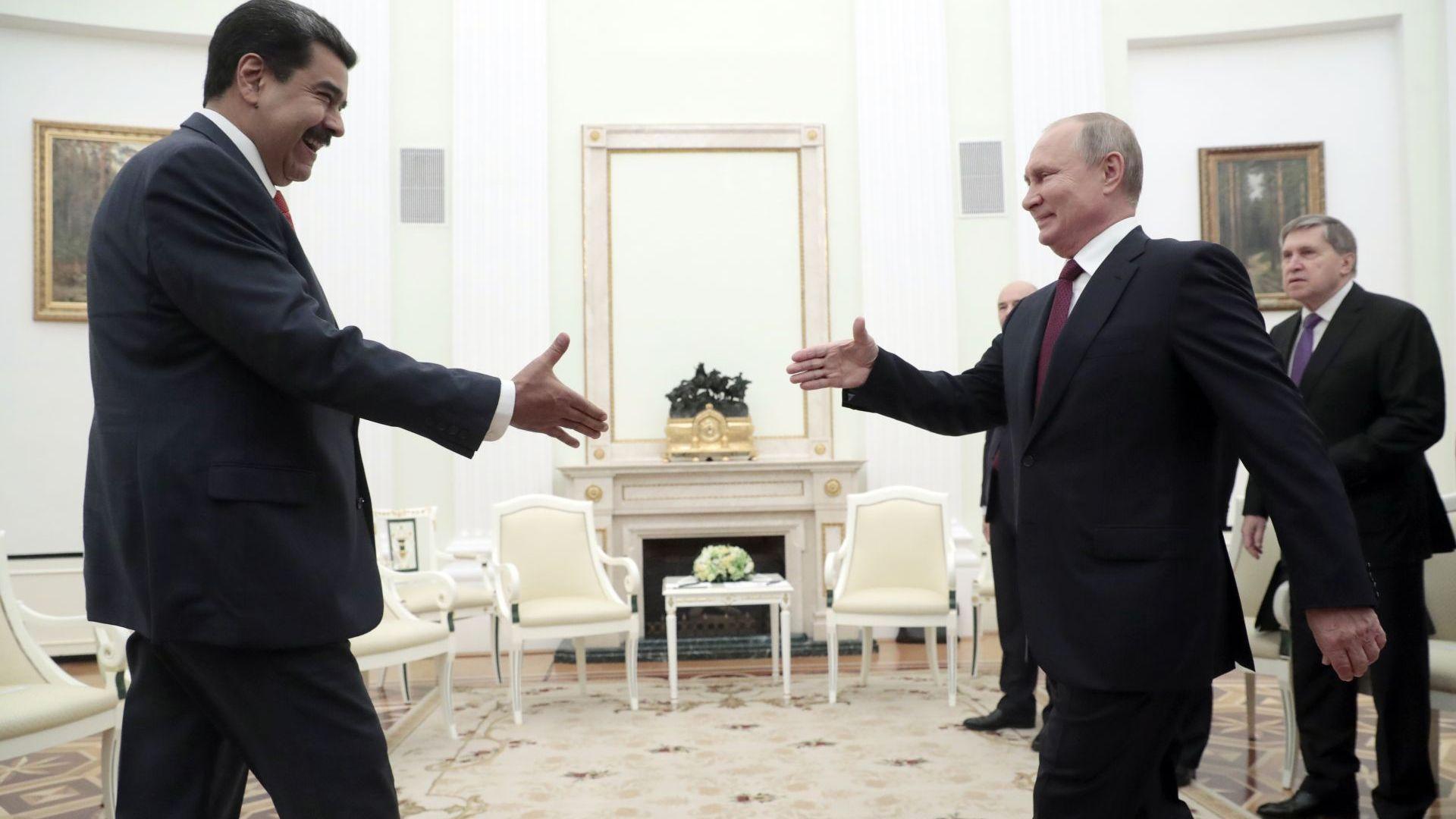 """Путин прие Мадуро в знак на подкрепа за """"законната му власт"""" (видео)"""