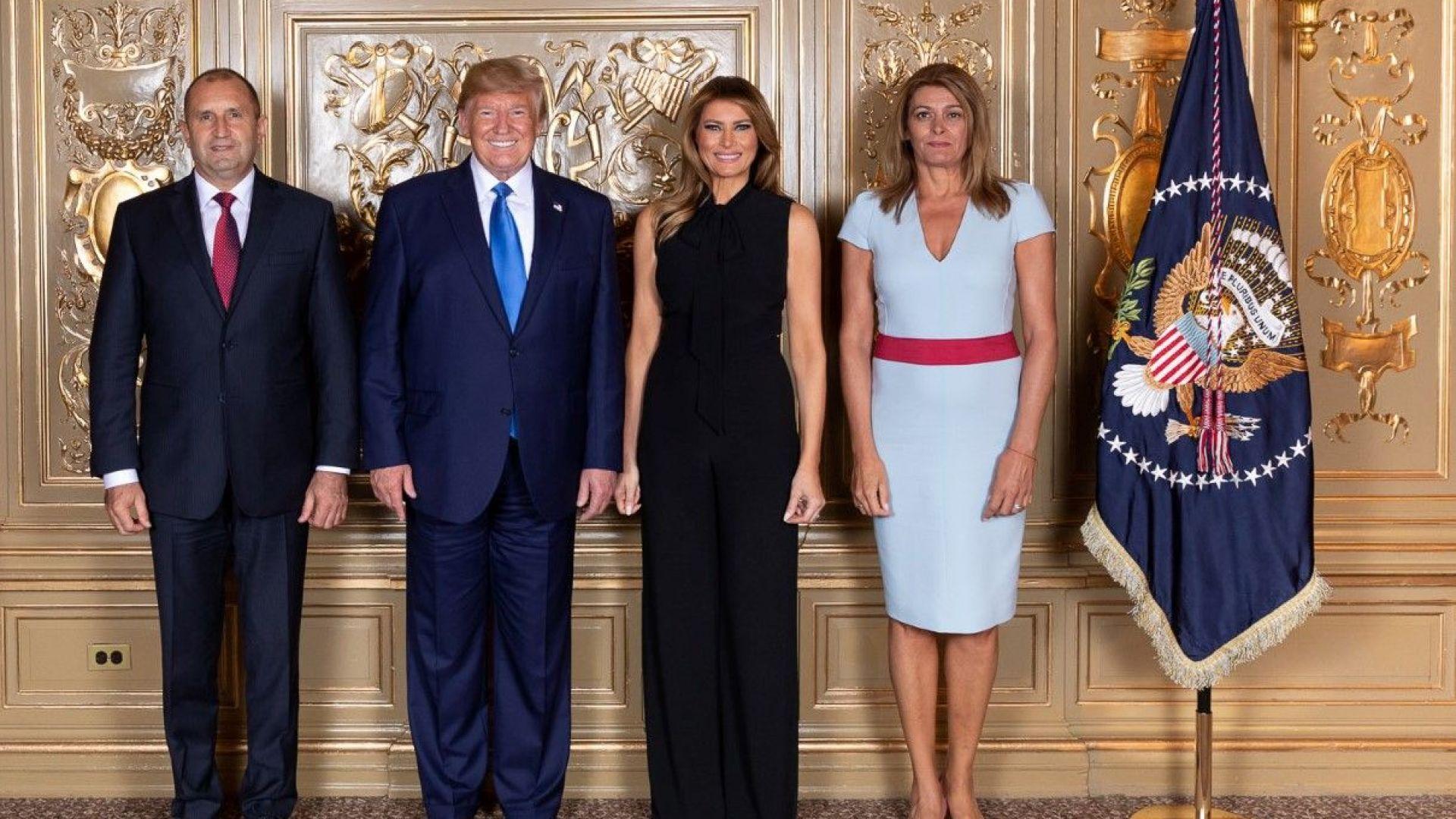 Румен Радев се снима с Доналд Тръмп на приема в Ню Йорк