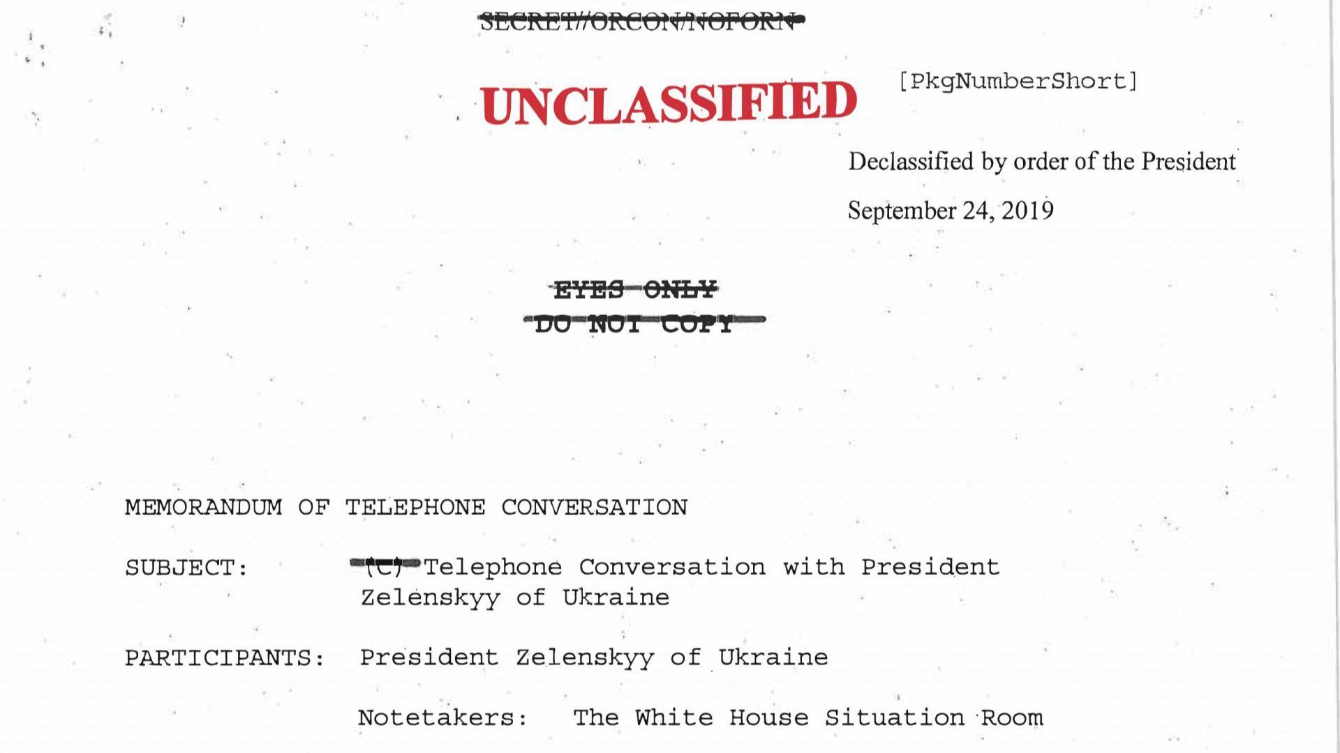 Стенограма разкрива, че Тръмп искал помощ от Зеленски за разследване срещу Байдън