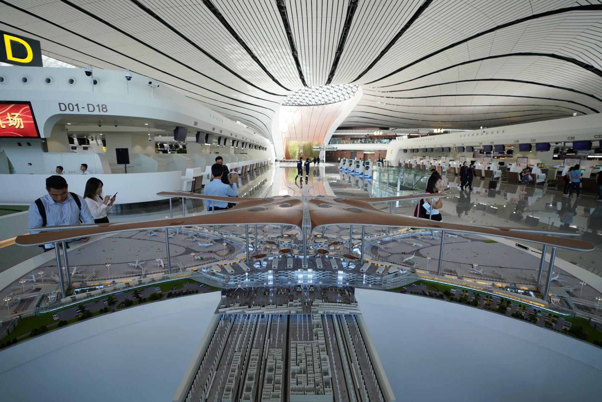 Макет в новото летище на Пекин показва как изглежда