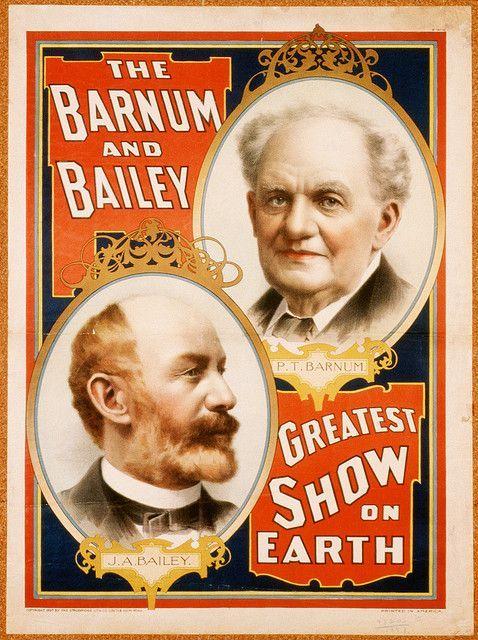 """Оригинален плакат на """"Най-великото шоу на Земята"""""""
