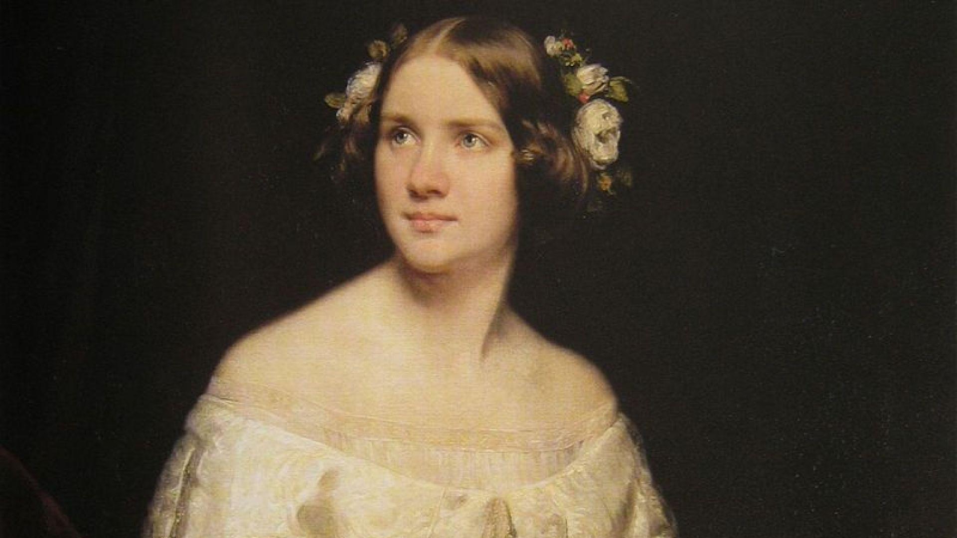 Портрет на Джени Линд от художникa Едуард Магнус
