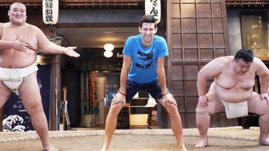 Джокович вече знае какво не му достига да е шампион в сумо (видео и снимки)