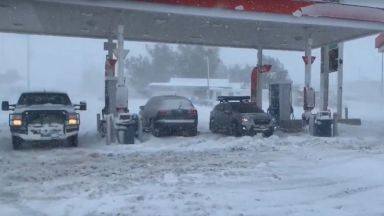 Зимна буря и 3 метра сняг в Калифорния