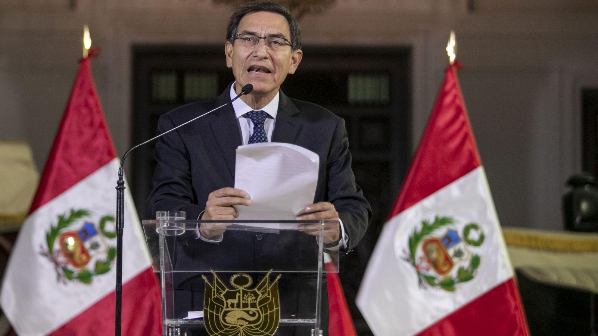 """Президентът на Перу бе отстранен, защото е """"нравствено негоден"""""""