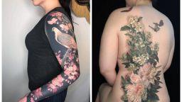 Шедьоври по тялото: изисканите флорални татуировки на Естер Гарсия