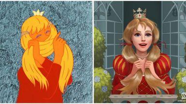 """Рускиня """"подобрява"""" принцесите на Дисни от носталгия по детството и родината"""