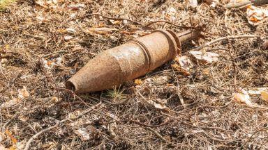 Откриха невзривен снаряд в двора на къща в София