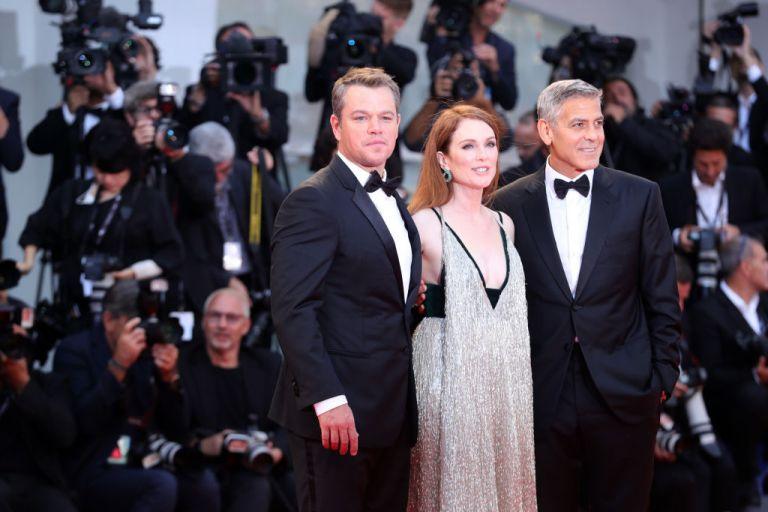 Мат Деймън с Джулиан Мур и Джордж Клуни