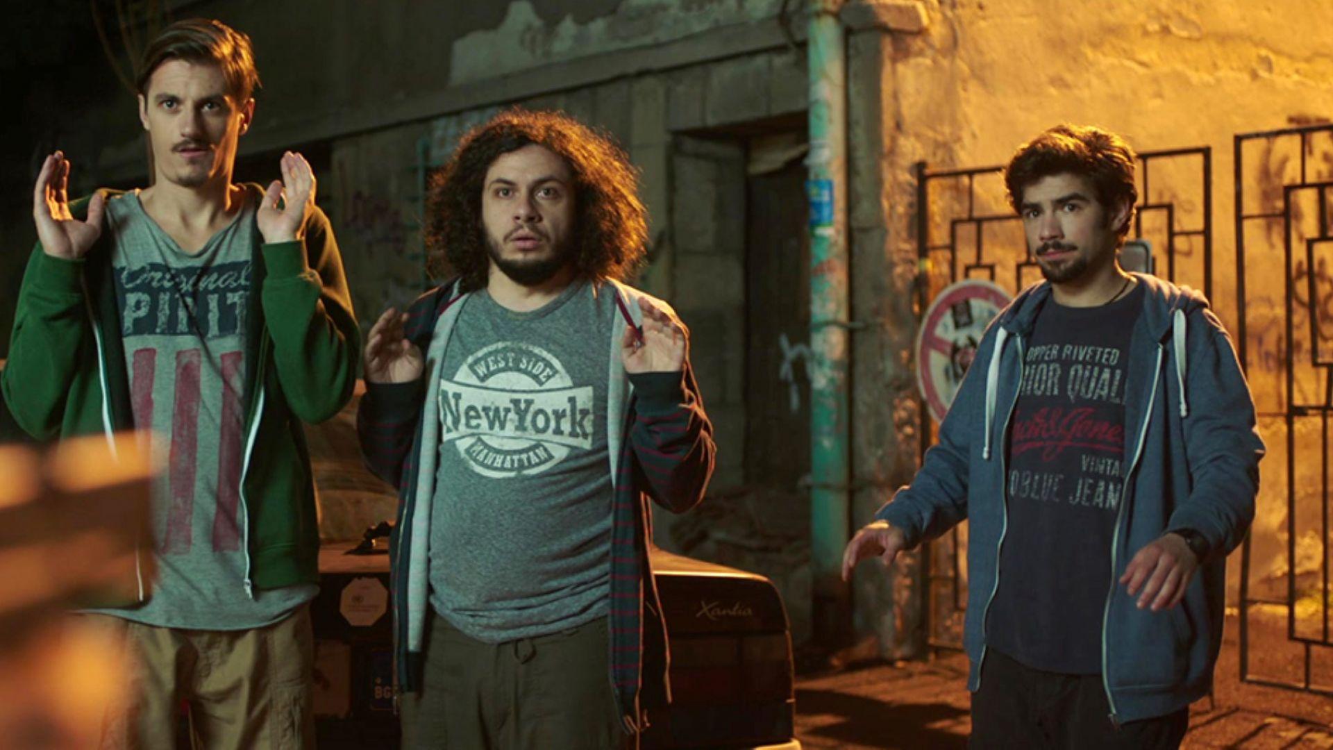 Тримата приятели във филма - Тони, Дани и Крис