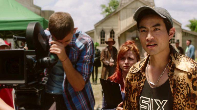Юта Такенака в сцена от филма като режисьор