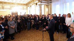 Президентът Румен Радев се срещна с българи във Виена