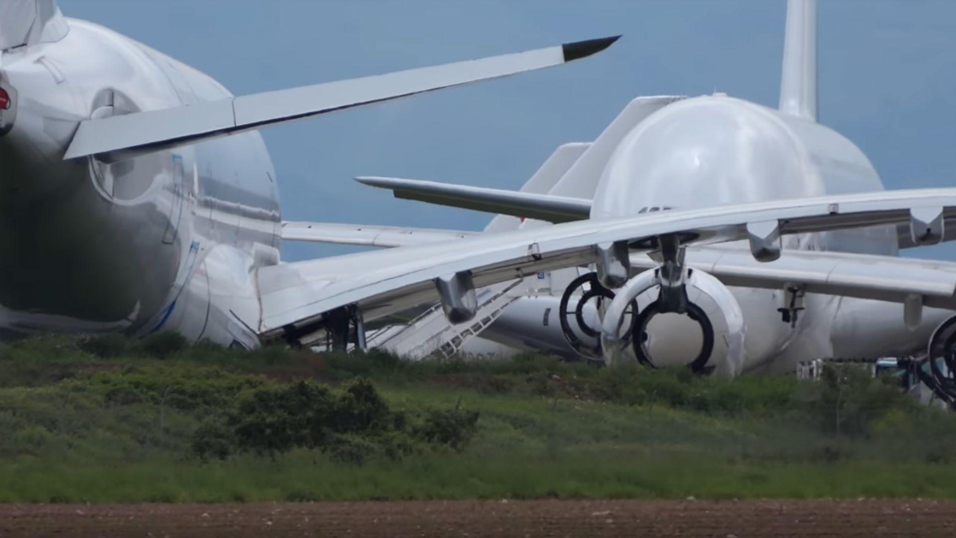 Еърбъс рециклира почти нови самолети от европейските самолетни гробища (видео)