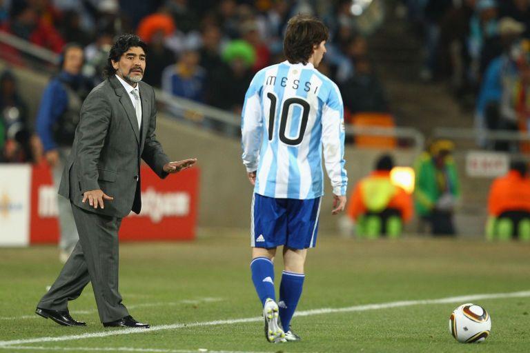 Марадона го смени и бе треньор на Меси за Мондиал 2010