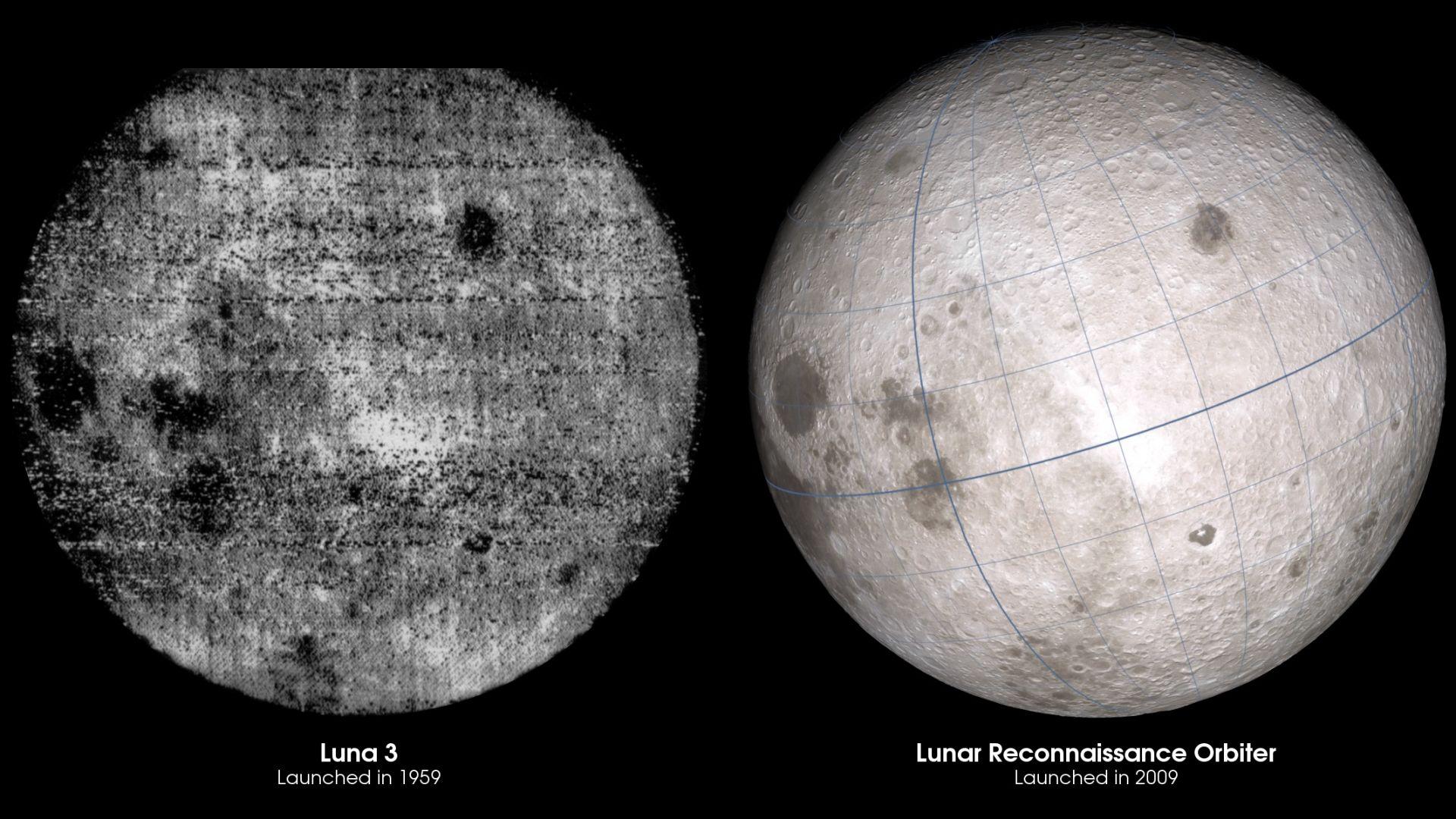 Снимка от 1959 г., сравнена с такава на НАСА от 2009 г.