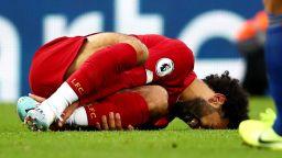 Салах се размина с най-лошото, но е под съмнение за големия мач в Манчестър