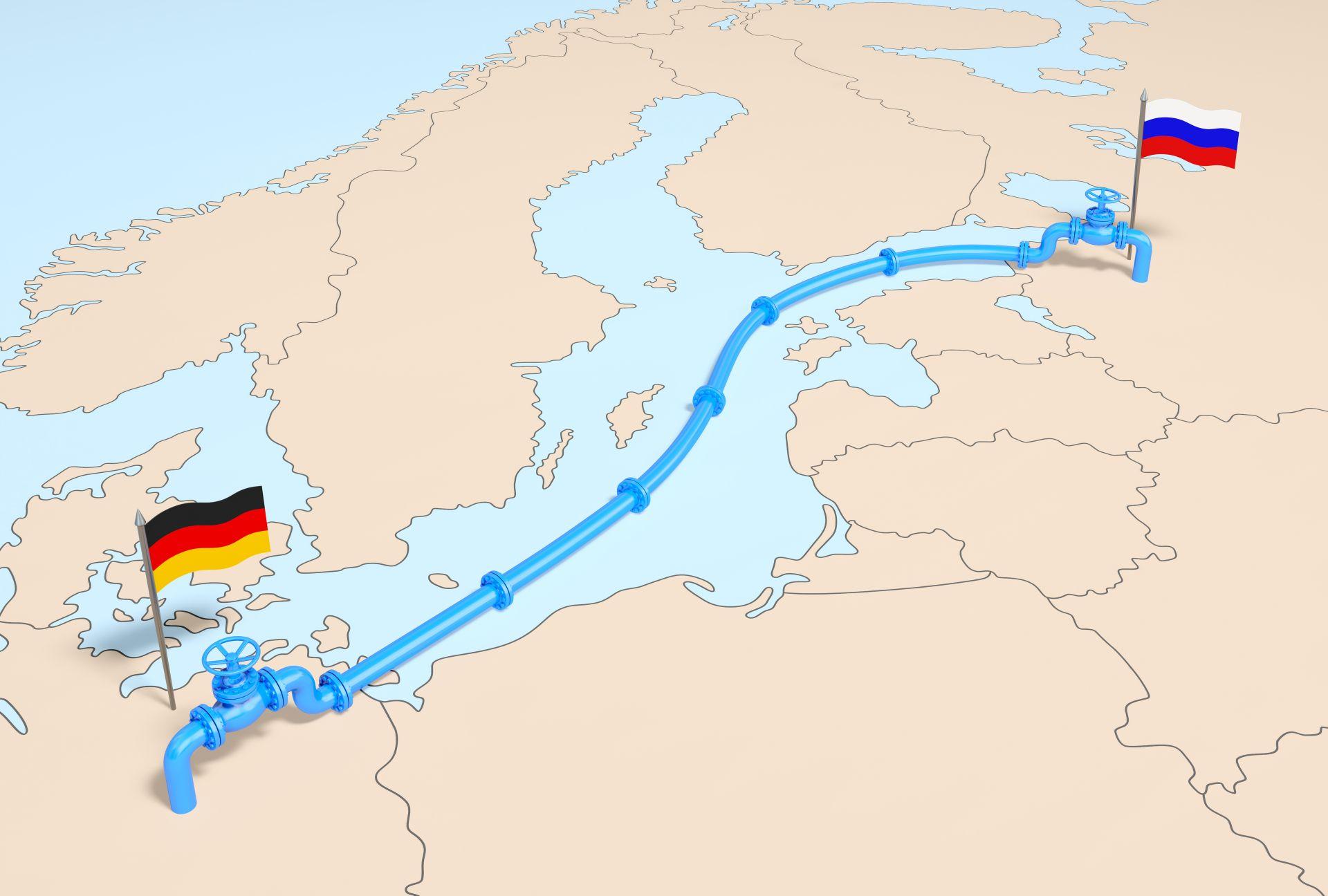 """Трасето на """"Северен поток 2"""" - от руския бряг през Балтийско море до Германия"""