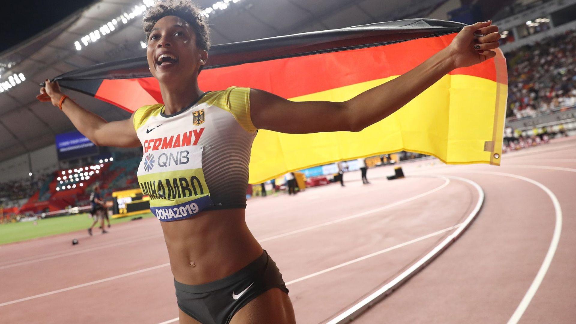 Малаика Михамбо позлати Германия в скока на дължина след 26 г. чакане